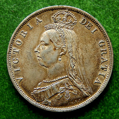 1887 UK Great Britain Half Crown Silver Coin  KM#764  SB2613A