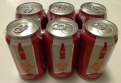 6 Pack - Clemson Coca Cola Coke Cans National Championship Edition