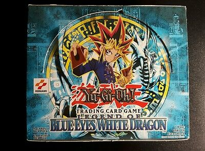 Yugioh Legend Of Blue Eyes White Dragon  Empty Booster Box Opened  (No Cards)