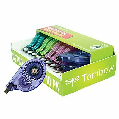 Tombow Mono Retro Correction Tape Assorted Colors, 10-Pack...NEW