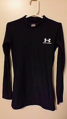 Under Armour Youth Small Boy Blue Long Sleeve Heat Compression Base Layer Shirt