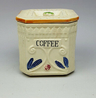 Vintage ceramic Coffee canister Japanese Art Deco pottery ceramic 1920s-30s