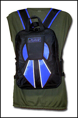 Skydiver Syndrome Backpack Parachute Mini Container Rig Gym Book Bag Blue S01
