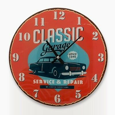 Watch Wall Glass Garage Vintage Retro Crystal Workshop