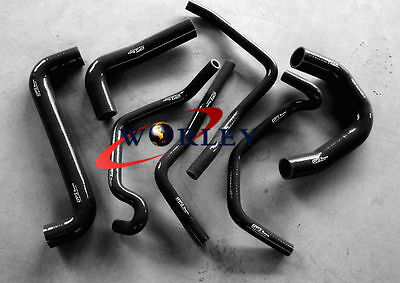 BLK For HOLDEN COMMODORE VY V8 5.7L LS1 Silicone radiator heater hose 02-04 03