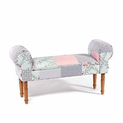 """BENCH """"WING PATCHWORK POWDER"""" 