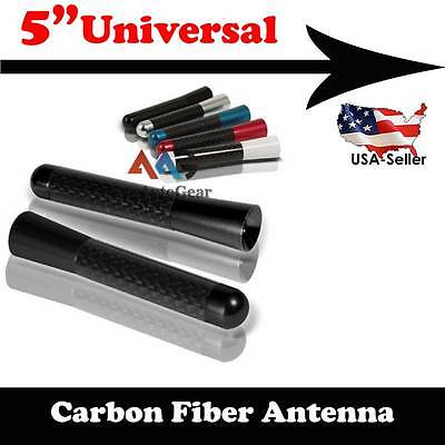 """JDM Style Short Red 3/"""" in//76 mm Carbon Fiber Screw Type Antenna #r17 Vehicles"""