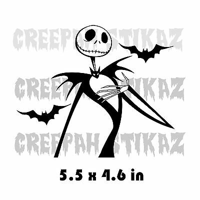 The Nightmare Before Christmas - Jack and Skellington bats -  Vinyl Decal
