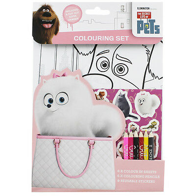 SECRET LIFE OF PETS COLOURING SET: Activity Pack : WH3 : 759 : BRAND NEW
