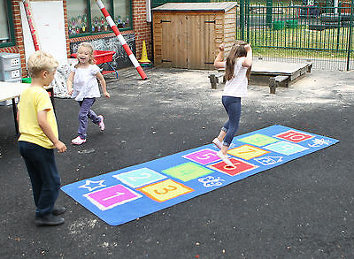Childrens Outdoor Hopscotch Play Mat (MAT1010) - Nursery/Pre School/Early Years