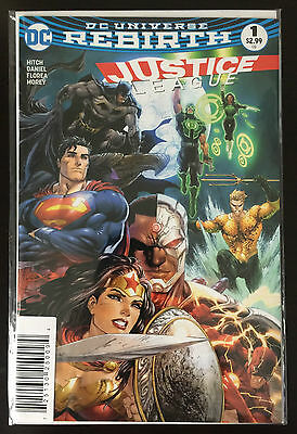 Justice League (2016) #1 1:2000 Tyler Kirkham Dynamic Forces Variant Rebirth COA