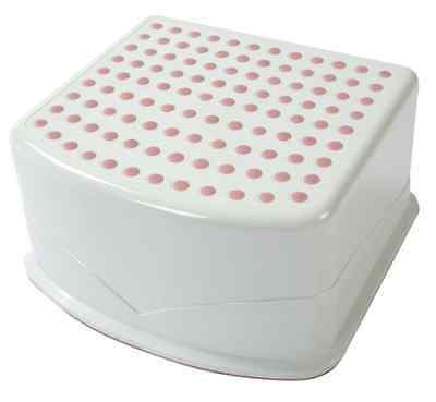 Tippitoes Step up Stool - White/Pink
