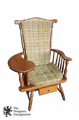 Heywood Wakefield 1960's Maple Teacher's Arm Chair w/ Writing Desk Windsor Back