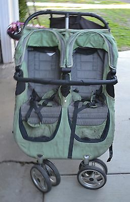 Baby Jogger City Mini  green/black Double Seat Stroller