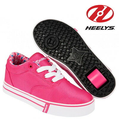 Heelys Launch Kids Wheelie Trainers Girls Roller Skate Shoes Pink CLEARANCE SALE