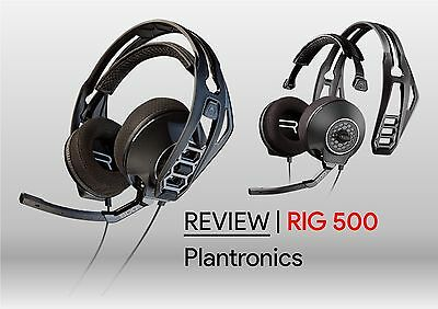 Plantronics Rig 500 Stereo Gaming Pc Headset Black