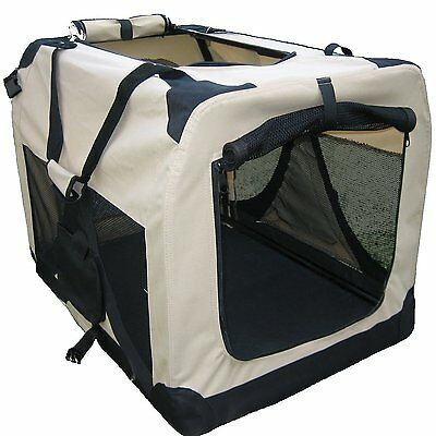 Soft Sided Dog Crate For Large Dogs Collapsible Folding Pet Travel Carrier Tote