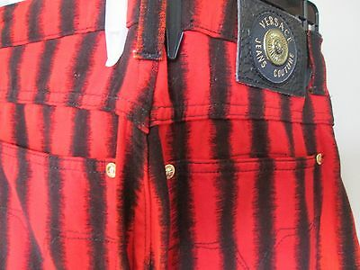 ITALY! CHIC VERSACE jeans couture MEDUSA logos 5 LUSCIOUS COLOURS!! VINTAGE 80s