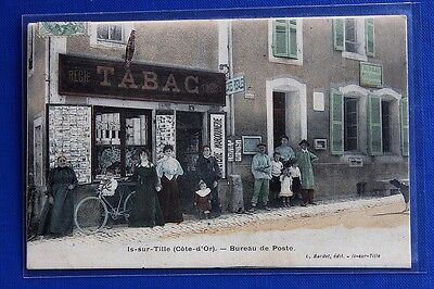 CPA Is-sur-Tille ( Côte d'Or ) - Bureau de Poste - 1907