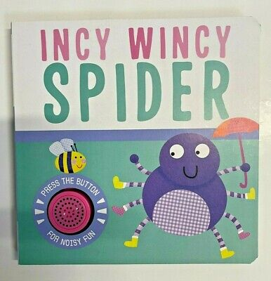 Incy Wincy Spider Single Sound Rhyme Sensory Interactive Baby Toddler Book - New