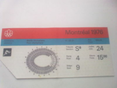Ticket Olympic Games MONTREAL 24.07.1976 - ATHLETICS (15:00)