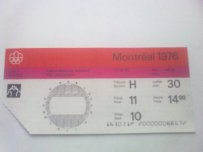Ticket Olympic Games MONTREAL 30.07.1976 - WRESTLING (14:00)