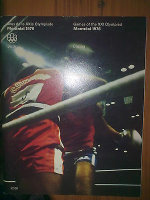 Programme Olympic Games Montreal 1976 BOXING