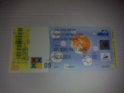 Ticket SOUTH KOREA - MEXICO  WORLD CUP France 1998 #9