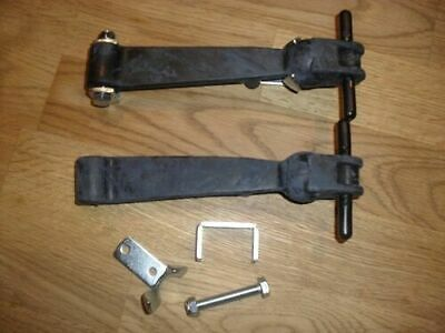 Pair Of Large Quality Rubber Bonnet / Boot Straps Catches,toggles,  Landrover