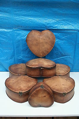 Wholesale job lot shop clearance damaged stock Wooden heart storage box pair x 6