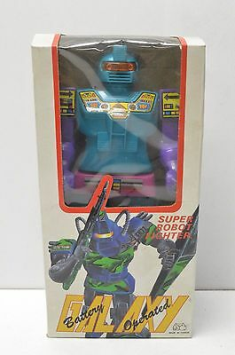 GALAXY SUPER FIGHTER ROBOT BATTERY OPERATED WITH BOX WORKS 1980's