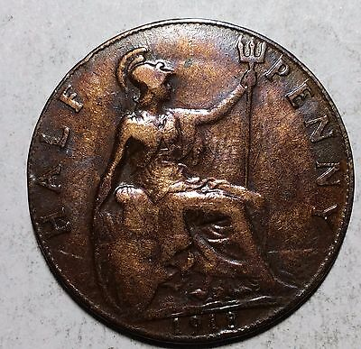 1918 Half Penny Great Britain/UK Coin