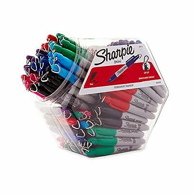 Sharpie Fine Point Mini Permanent Marker, Assorted Colors, Canister with 7...NEW