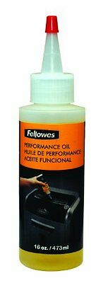 Fellowes Powershred Performance Shredder Oil, 16 oz. Extended Nozzle Bottl...NEW