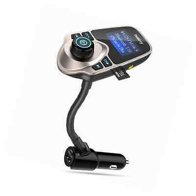 [Newest Version LED FM Transmitter], Nulaxy Wireless In-Car Bluetooth FM Transmi