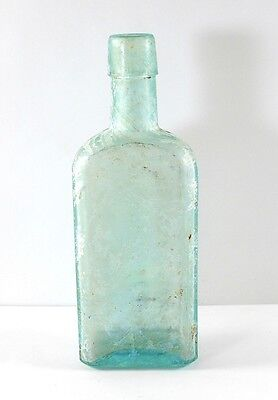 Vintage Blue Glass Embossed Bottle Dr. Pierce's Favorite Prescription