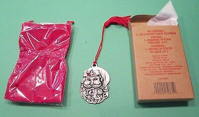 New Avon  2012 Pewter Santa Ornament Nib