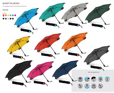 BLUNT XS Metro Auto Open Folding Windproof Umbrella - Various Colours