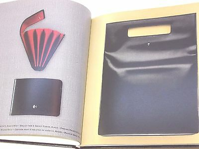 Montblanc catalog book hardcover with leather products for fountain pen 2003