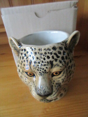 Quail Ceramics Leopard Pencil Pot / Toothbrush Holder Great Gift New &boxed