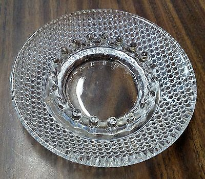 """Vintage Clear Glass Hobnail Ashtray 70's Style Retro For Serious Smokers 6.25"""""""