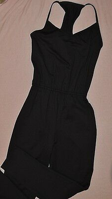 New BalTogs Adult size  Large Black supplex racer back   unitard bodysuit