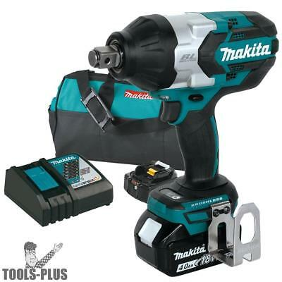 "18V LXT Brushless 3/4"" Square Drive Impact Wrench Kit Makita XWT07M New"