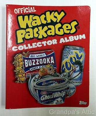 Lot Topps Wacky Packages Collector Album with 34 Stickers / Cards 2005