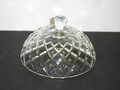 Anchor Hocking Waterford Waffle Round Covered Butter Dish LID ONLY