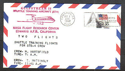 Us 1982 Event Cover Gulfstream Ii-Shuttle Training Aircraft Nasa Edwards Afb Ca