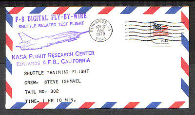 Us 1979 Event Cover F-8 Digital Fly-By-Wire Shuttle Training Nasa Edwards Afb Ca