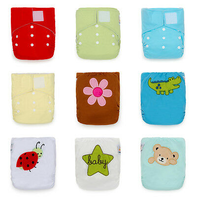 Daycare Package! 12 KaWaii Baby One Size Heavy Duty HD2 Cloth Diapers+24 Inserts