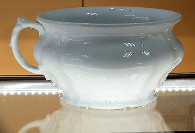 Chamber Pot Antique Royal Ironstone China by Johnson Bros England White Footed