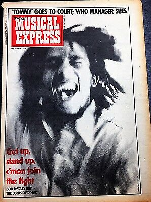 Bob Marley Get Up Stand Up c'mon join the fight NME 19 July 1975